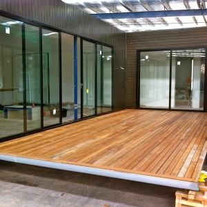 PREBUILT - Spotted Gum deck commissioned by renowned pre-fab builder PREBUILT in Kilsyth.