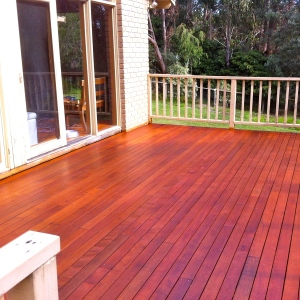 MONTROSE - Deck renovation in Merbau with balustrade upgrade.